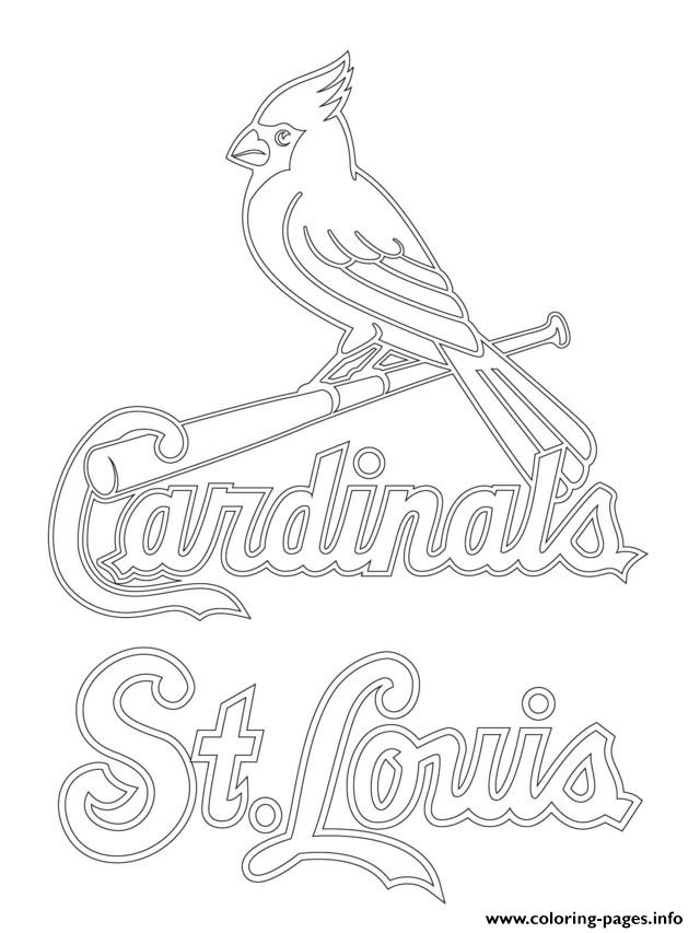 640x853 St Louis Cardinals Logo Mlb Baseball Sport Coloring Pages Printable