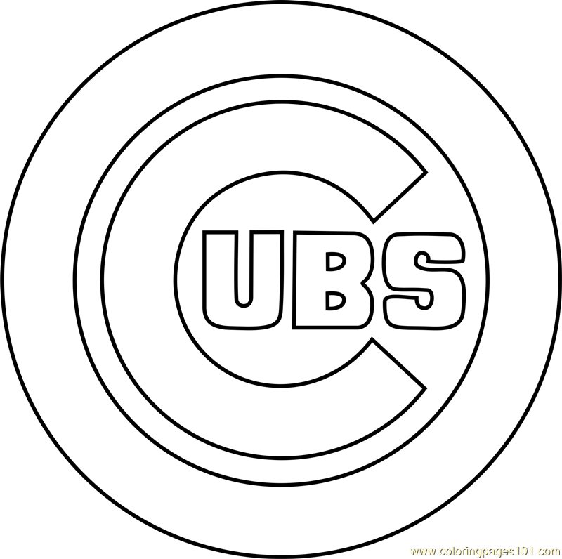 800x796 Chicago Cubs Logo Coloring Page