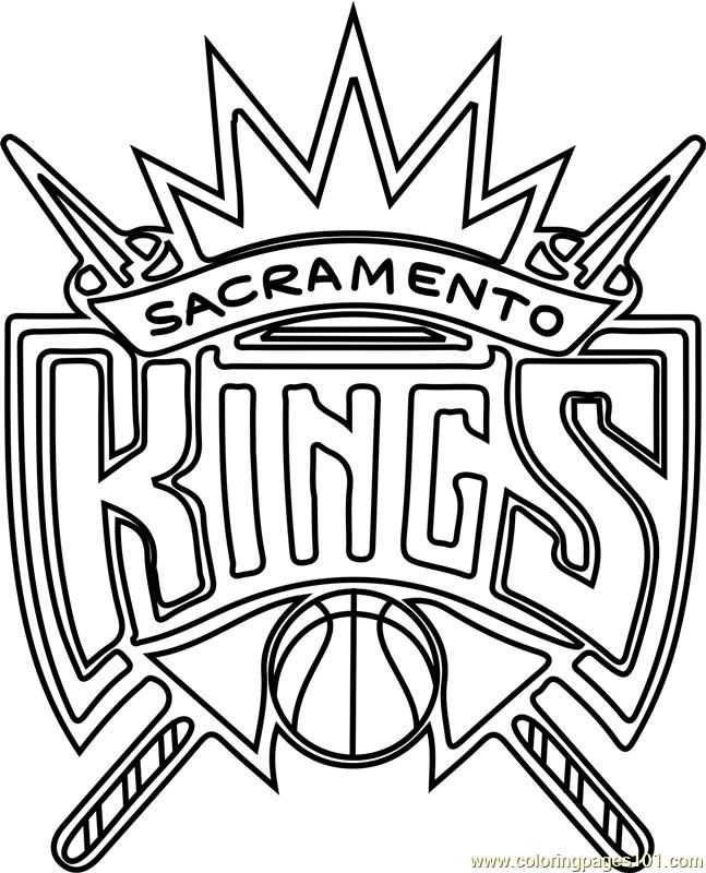 647x800 Sacramento Kings Coloring Page