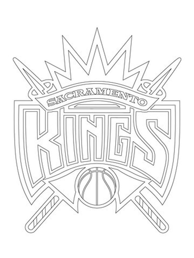 675x900 Sacramento Kings Logo Nba Coloring Pages Sports Coloring Pages