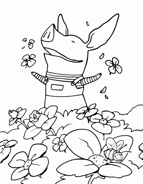 596x770 Best Pig Coloring Pages Images On Los Angeles Kings