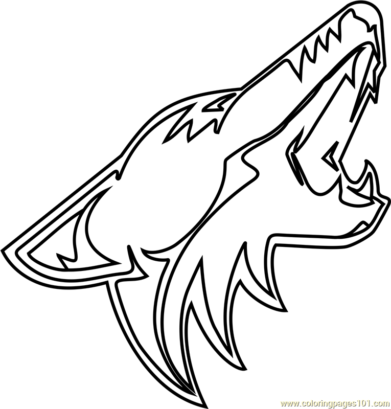 765x800 Arizona Coyotes Logo Coloring Page