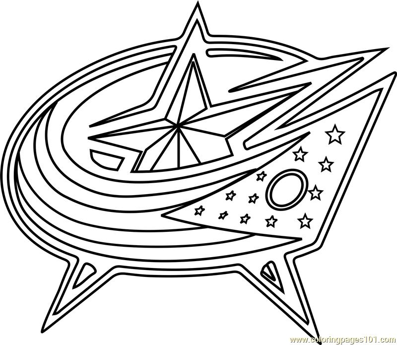 800x695 Columbus Blue Jackets Logo Coloring Page