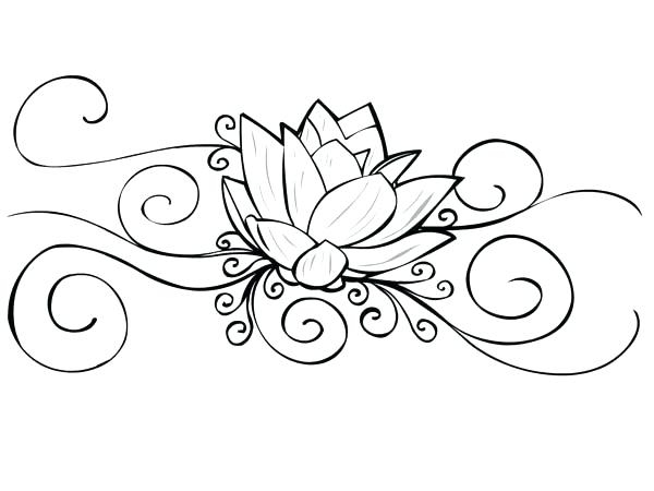 600x450 Idea Lotus Flower Coloring Page And Lotus Flower Tattoo Coloring