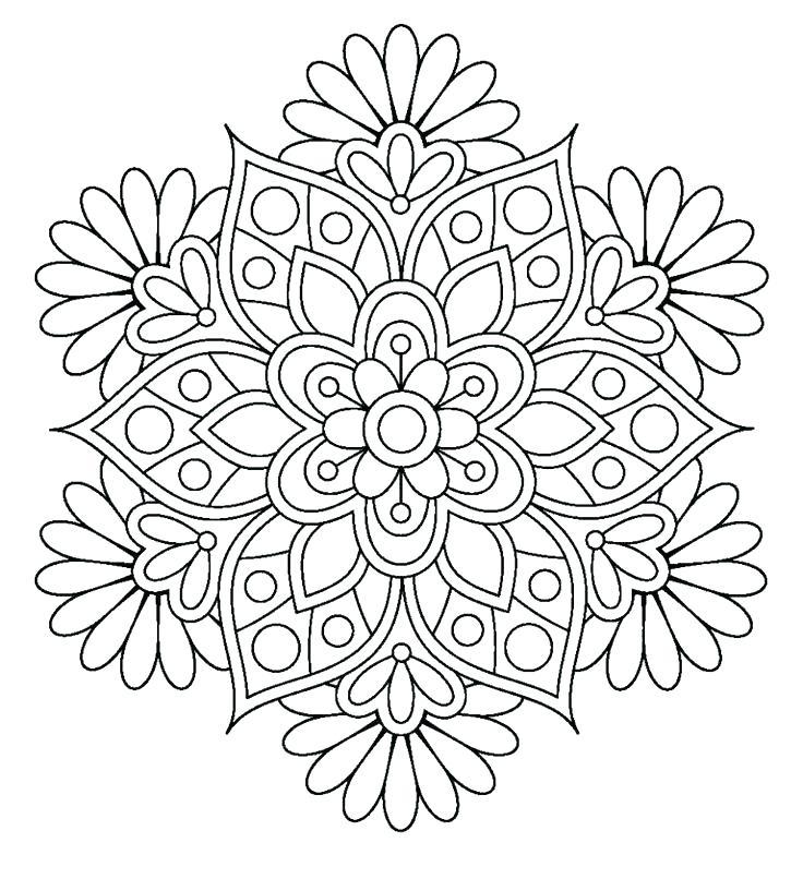 Lotus Mandala Coloring Page at GetDrawings.com | Free for ...