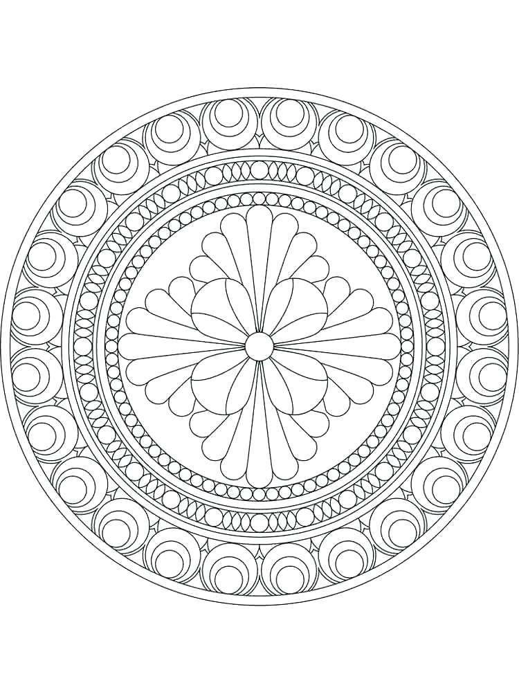 750x1000 Lotus Flower Coloring Page Flower Mandala Coloring Pages Flower