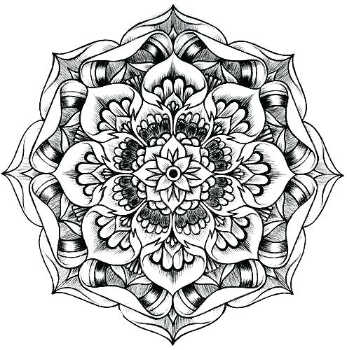 495x500 Lotus Mandala Coloring Pages Lotus Flower Coloring Page Awesome