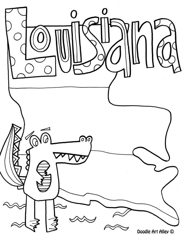Louisiana Coloring Pages At Getdrawings Free Download