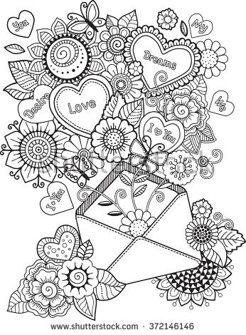 Love Adult Coloring Pages
