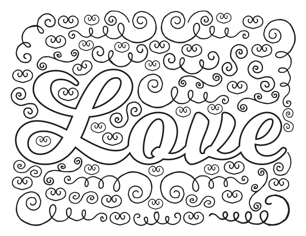 1024x791 I Love You Adult Coloring Pages Free Coloring Sheets