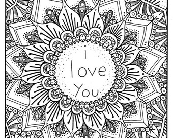 340x270 I Love You Coloring Pages For Adults Collection