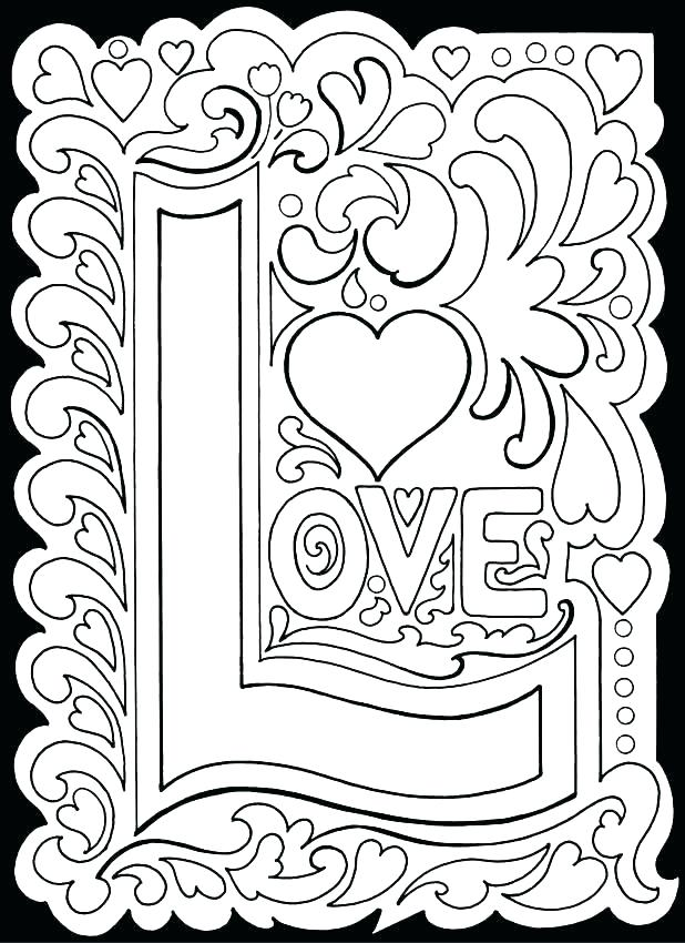 618x850 Love Color Pages Valentines Day Adult Coloring I Love Dad Coloring