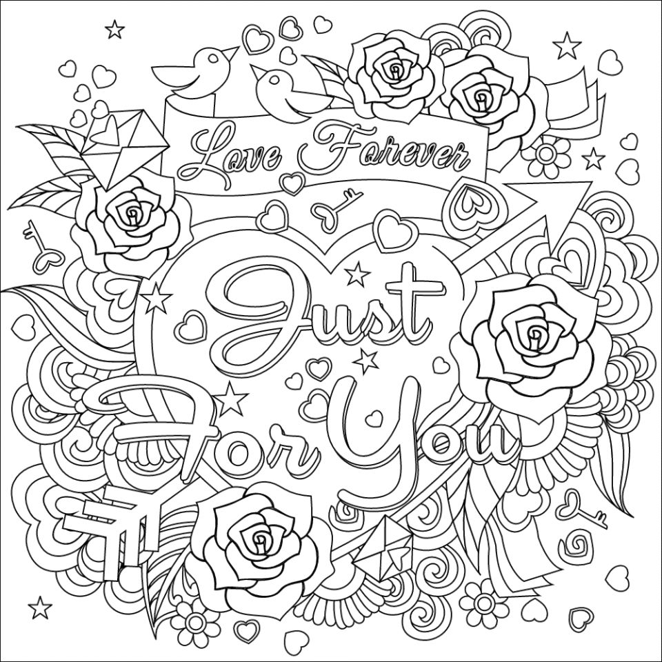 960x960 Adult Coloring Coloring Pages Adult In And Love