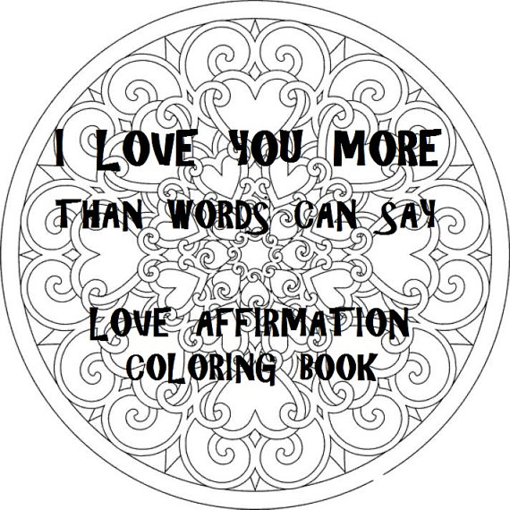 570x570 Love Coloring Book Digital Download Coloring Pages Pdf