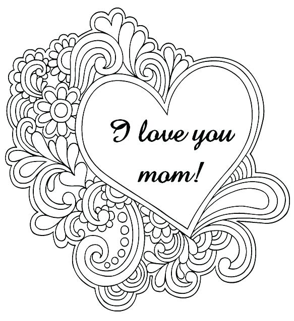 583x638 Love Coloring Pages For Adults Flowers And Hearts Coloring Pages