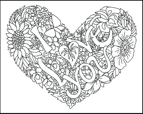563x451 Love Coloring Sheet I Love You Coloring Pages Adult Coloring