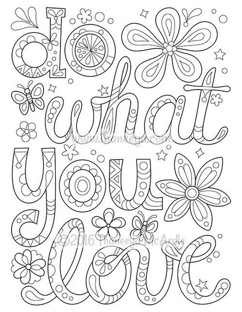 500x643 Do What You Love Coloring Page