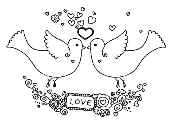 600x423 Love Birds Promise You Love Me Coloring Pages Batch Coloring