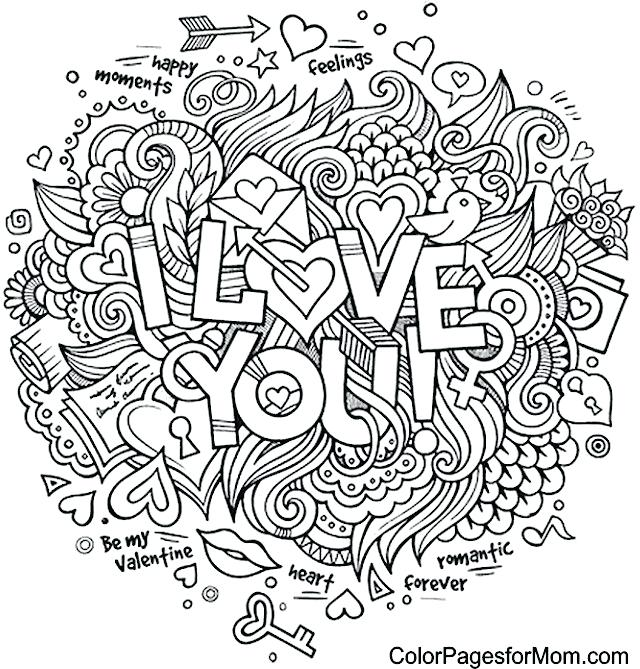 640x669 Free Printable Love Coloring Pages Love Coloring Sheets Gorgeous