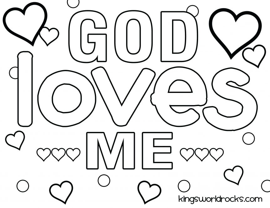 863x667 God Lovely God Is Love Coloring Pages