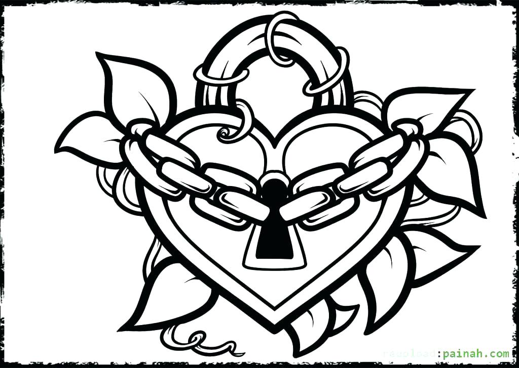 1024x728 Heart Coloring Pages Love Coloring Pages For Adults Awesome