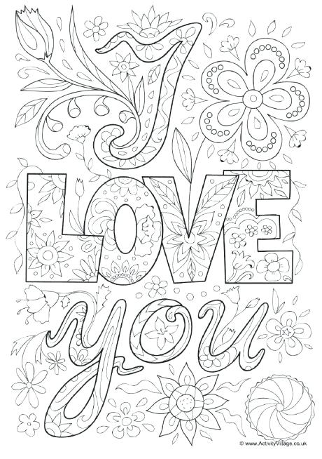 460x654 Love You Coloring Pages I Love You Printable Coloring Pages