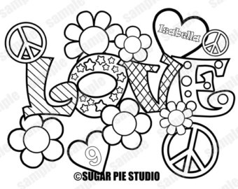 340x270 Love Coloring Page Etsy