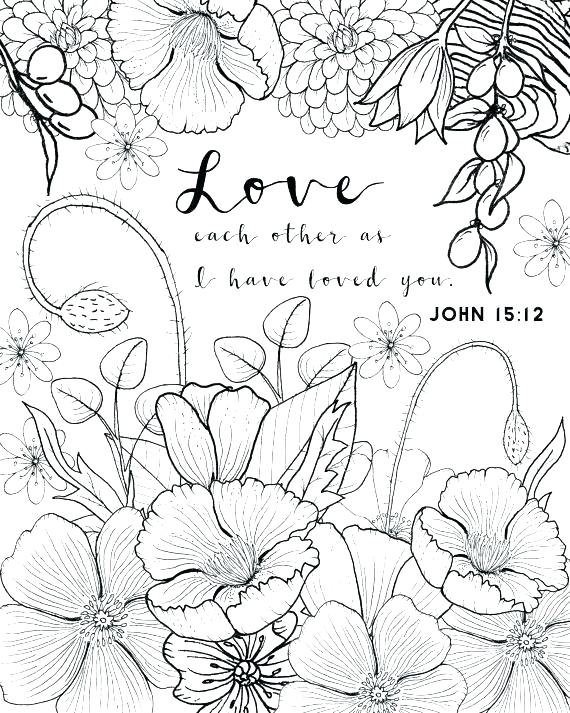 570x713 Realistic Flower Coloring Pages Free Printable Flower Coloring