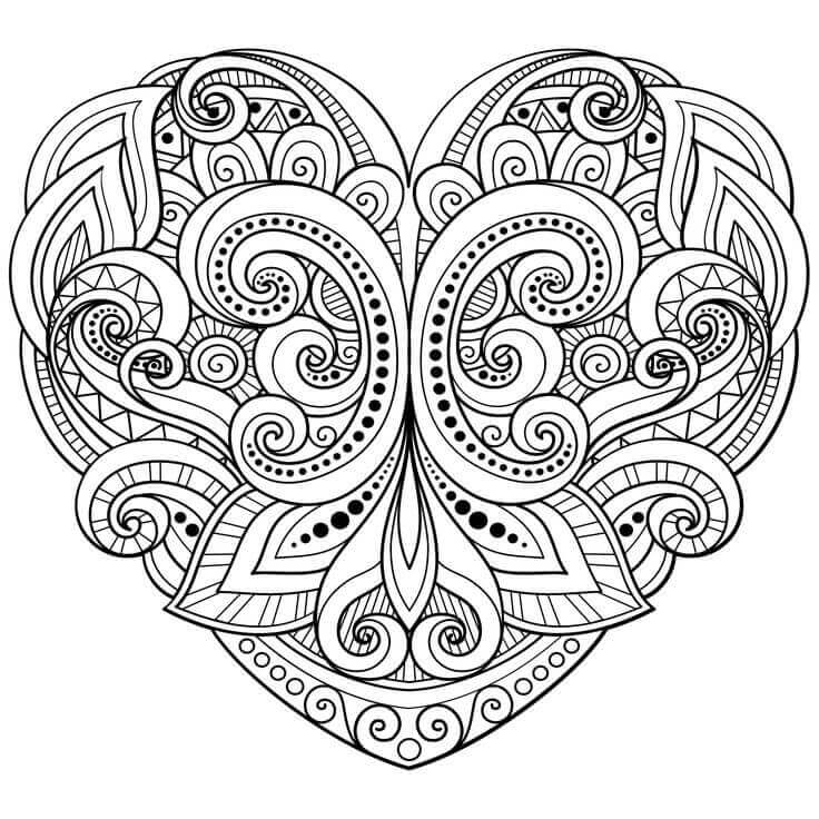 736x736 Free Printable Heart Coloring Pages