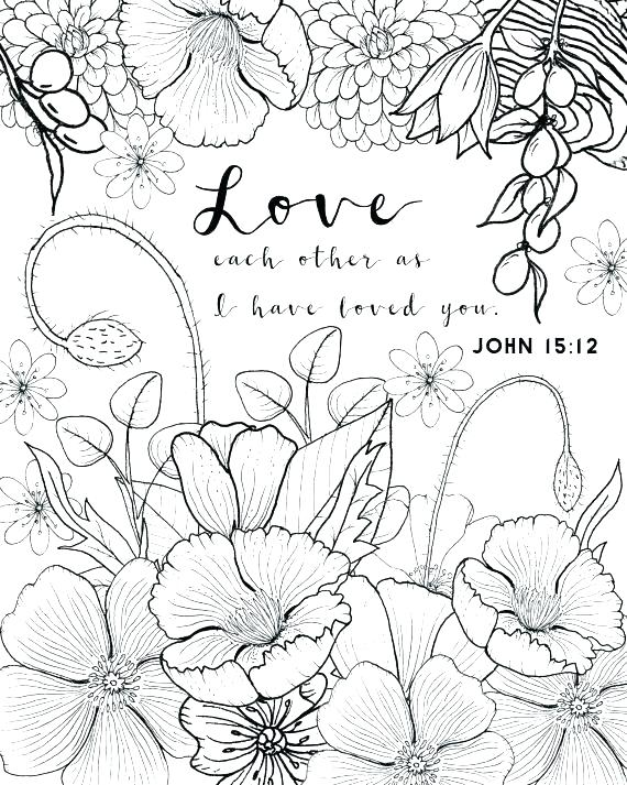 570x713 Adult Coloring Page Love One Another Coloring Pages Love Color
