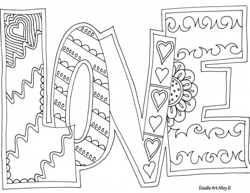 Love Coloring Pages Free Printable