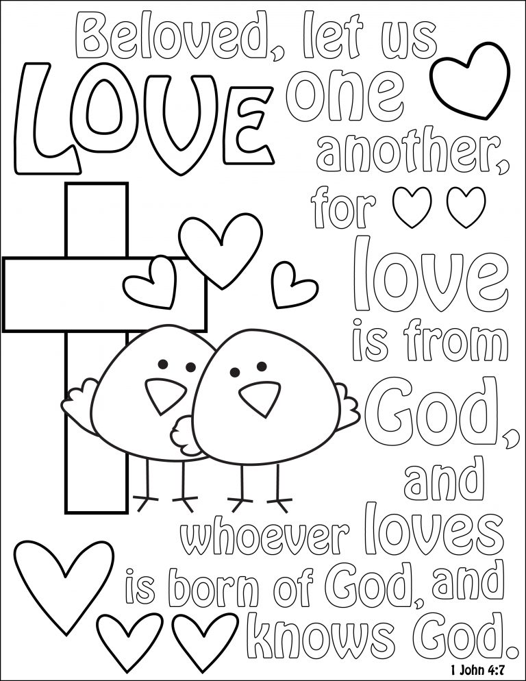 768x994 God Is Love Coloring Page New Pages Printable Free Books