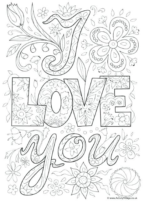 460x654 I Love You Coloring Pages I Love You Coloring Pages Printable I