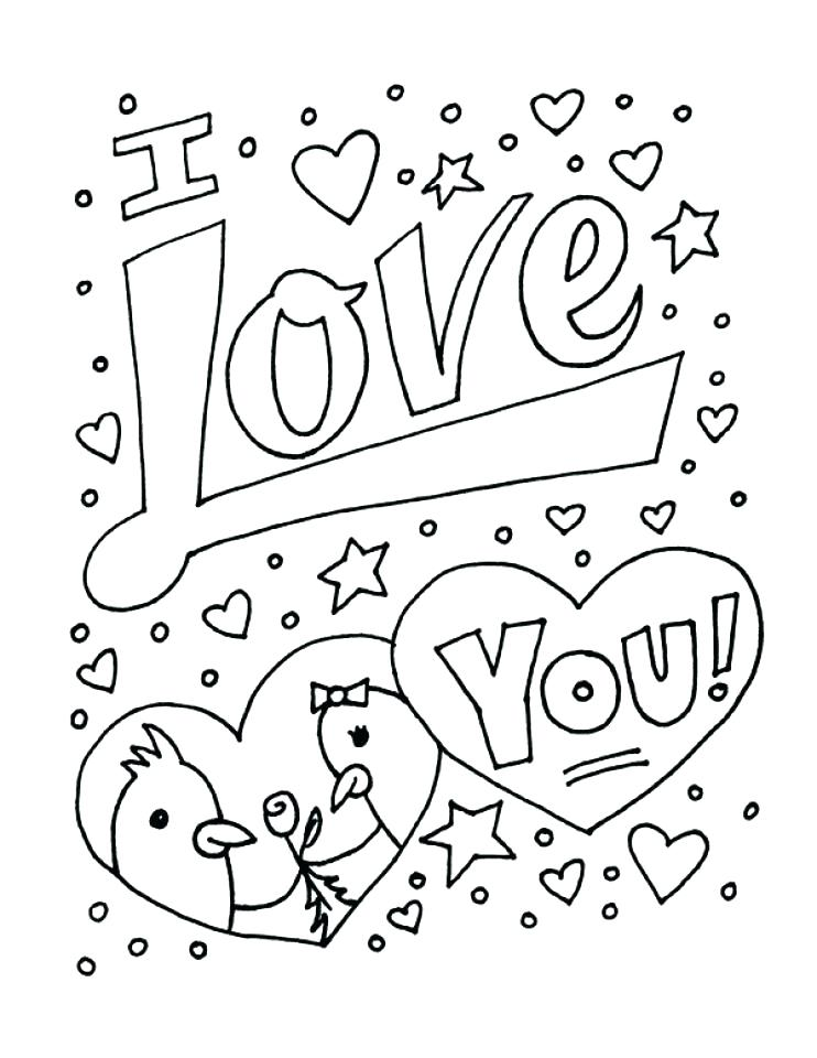 742x960 I Love You Coloring Pages Printable Love Coloring Pictures Free