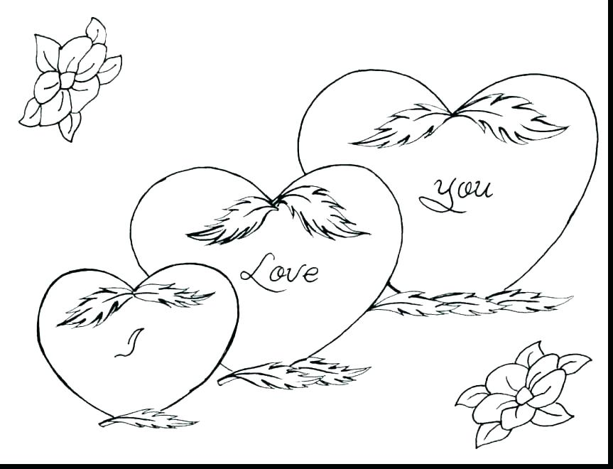 863x660 I Love You Coloring Pages Printable Printable Happy Birthday Happy