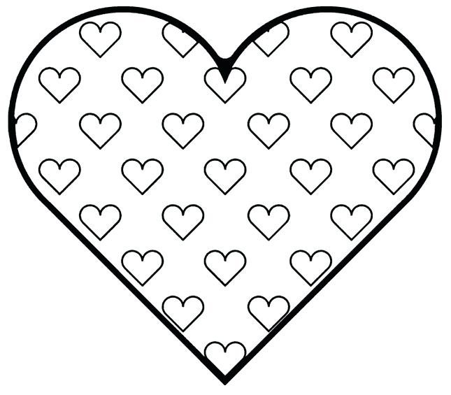 645x565 Love Heart Colouring In Pictures