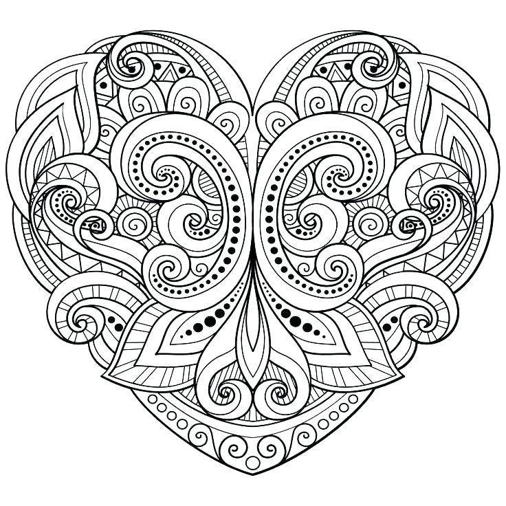 736x736 Heart With Wings Coloring Pages Printable