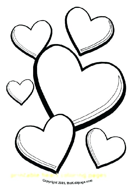 521x724 Printable Heart Coloring Pages