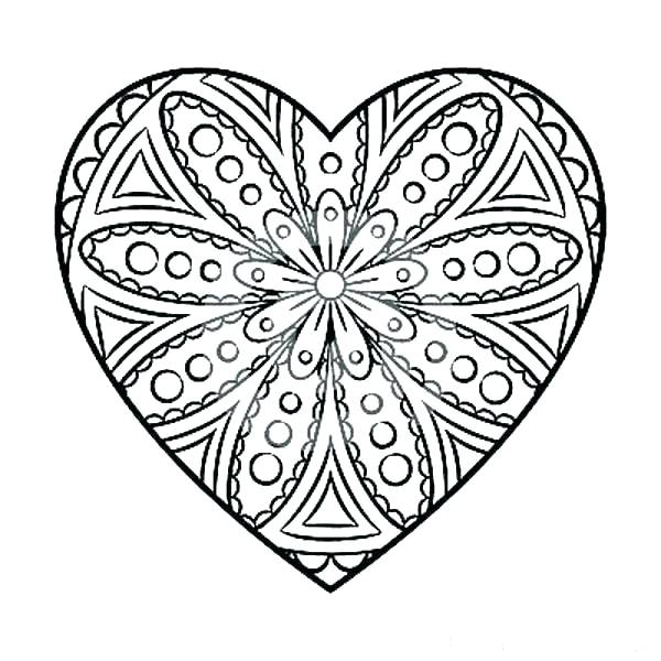 600x600 Large Print Coloring Pages Coloring Print Out Heart Coloring Pages