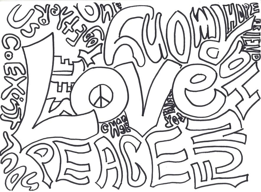 884x650 Love Coloring Pages Peace And Love Coloring Pages Free I Love You
