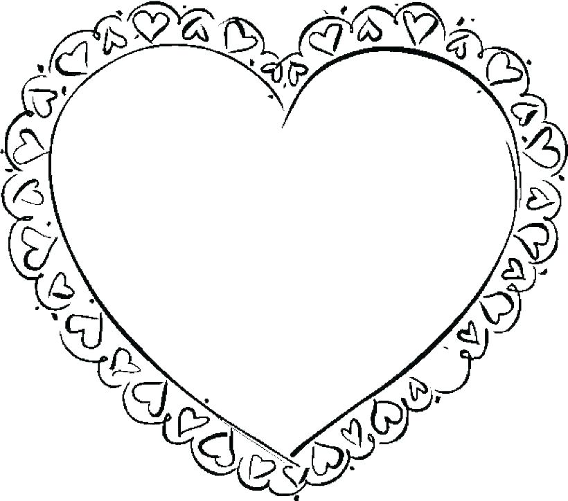 820x724 Cool Heart Coloring Pages