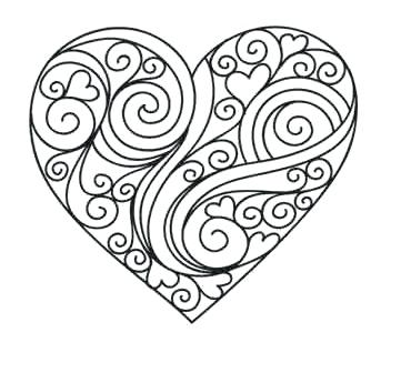 361x345 Heart Coloring Pages