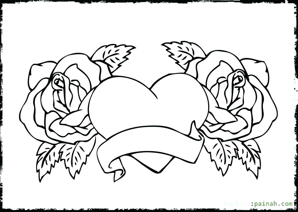 1024x728 Human Heart Coloring Pages