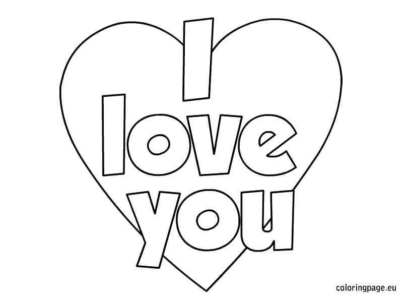 804x595 Love Coloring Page