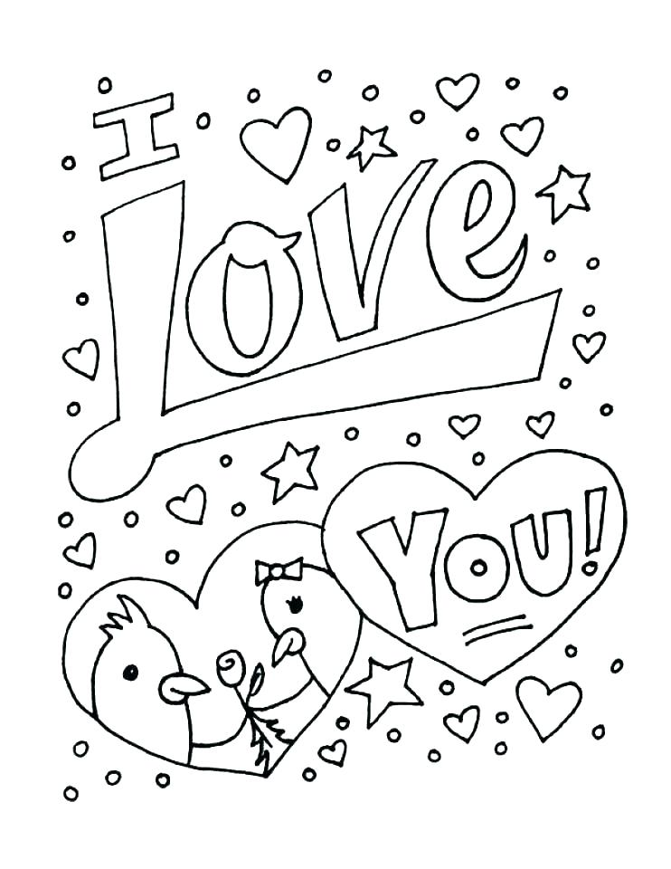 742x960 Coloring Pages Of I Love You Love Heart Colouring Pictures Small