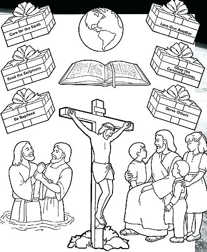 425x518 Helping Others Coloring Pages Love One Another Coloring Pages