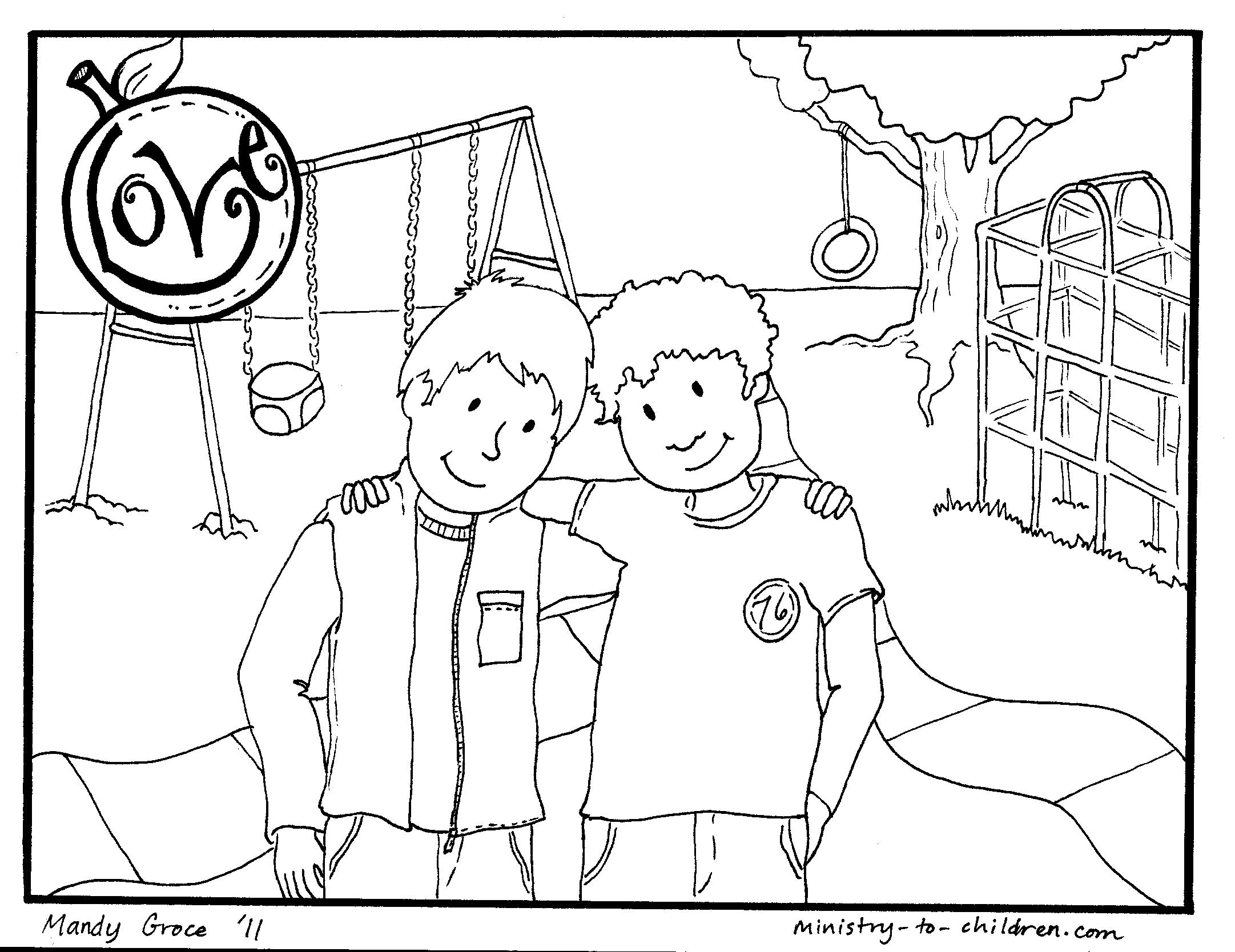 2163x1668 Love One Another Coloring Page