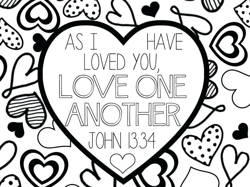 800x600 Love One Another Coloring Page Download Love One Another Coloring
