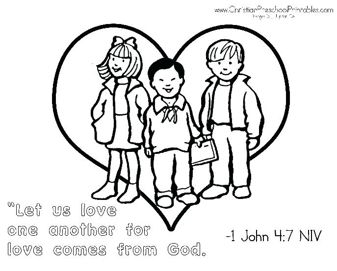 687x553 Coloring Pages Love Love One Another Coloring Page Colouring Pages