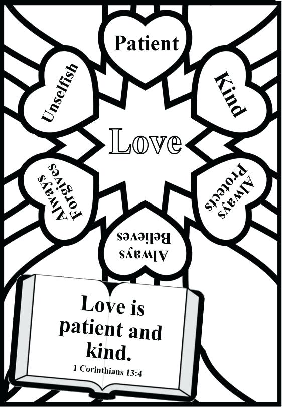 562x812 Love One Another Coloring Page Printable Coloring Pages For Adults